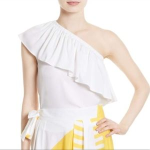 Milly One Shoulder Silk Blouse